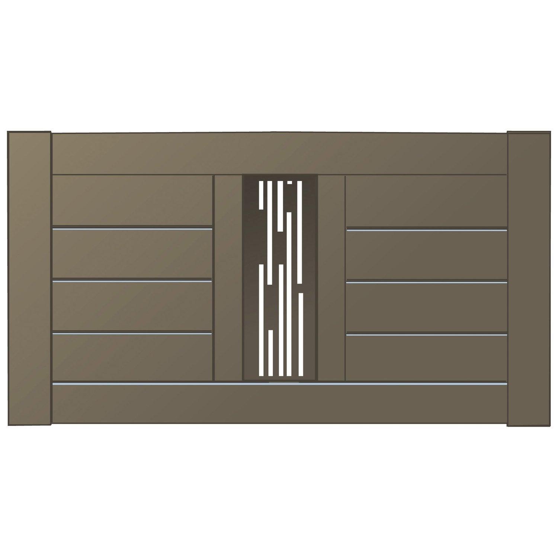 cl ture mixit naterial en aluminium haut 80 x larg 150 cm leroy merlin. Black Bedroom Furniture Sets. Home Design Ideas