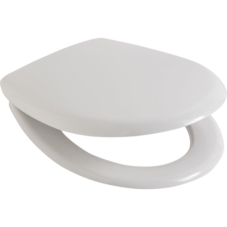 abattant wc sensea theia blanc leroy merlin. Black Bedroom Furniture Sets. Home Design Ideas
