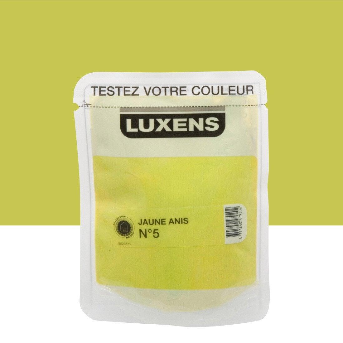 Idee Deco couleur vert anis : Peinture jaune anis 5 LUXENS Couleurs intérieures satin 0.5 l ...