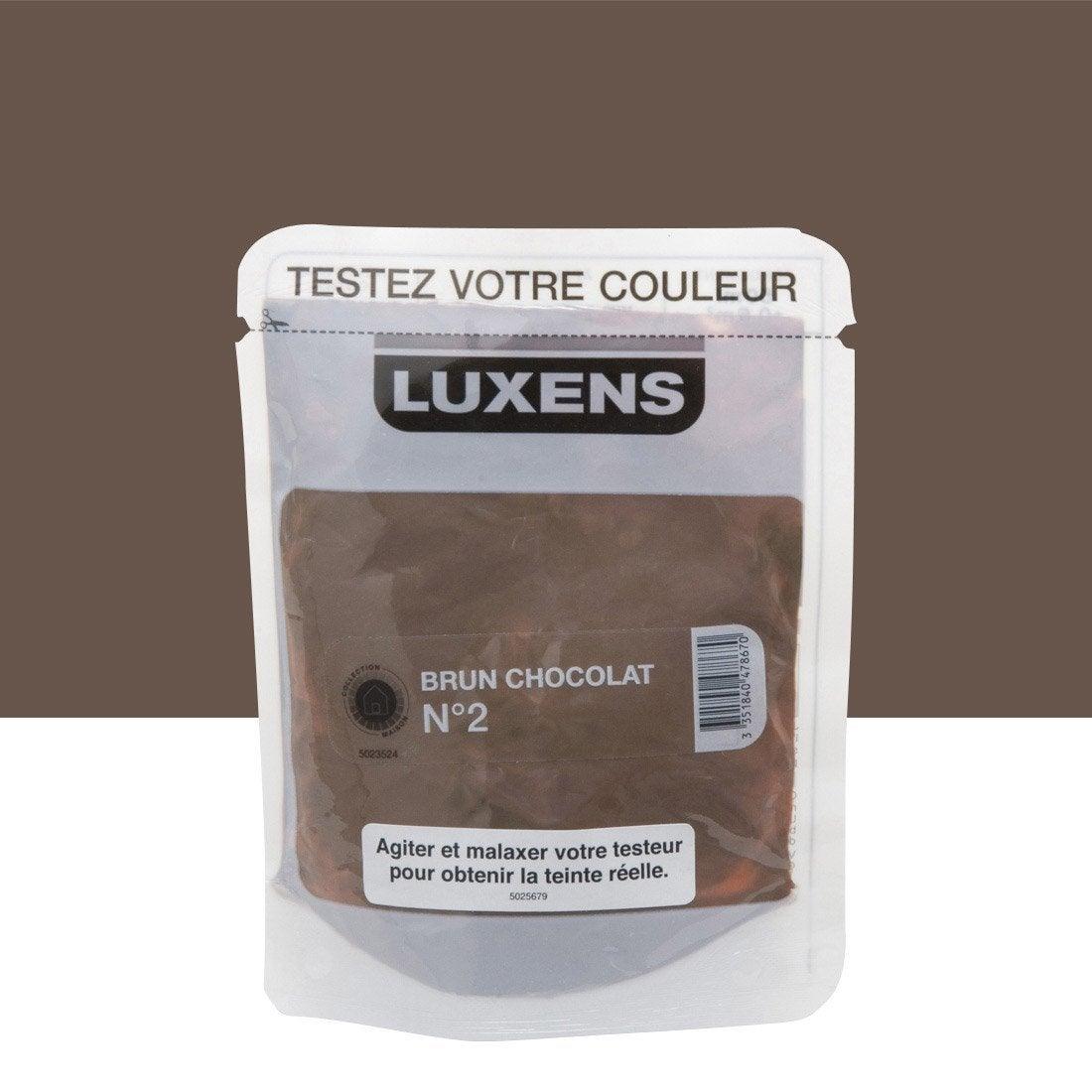 testeur peinture brun chocolat 2 luxens couleurs int rieures satin l leroy merlin. Black Bedroom Furniture Sets. Home Design Ideas
