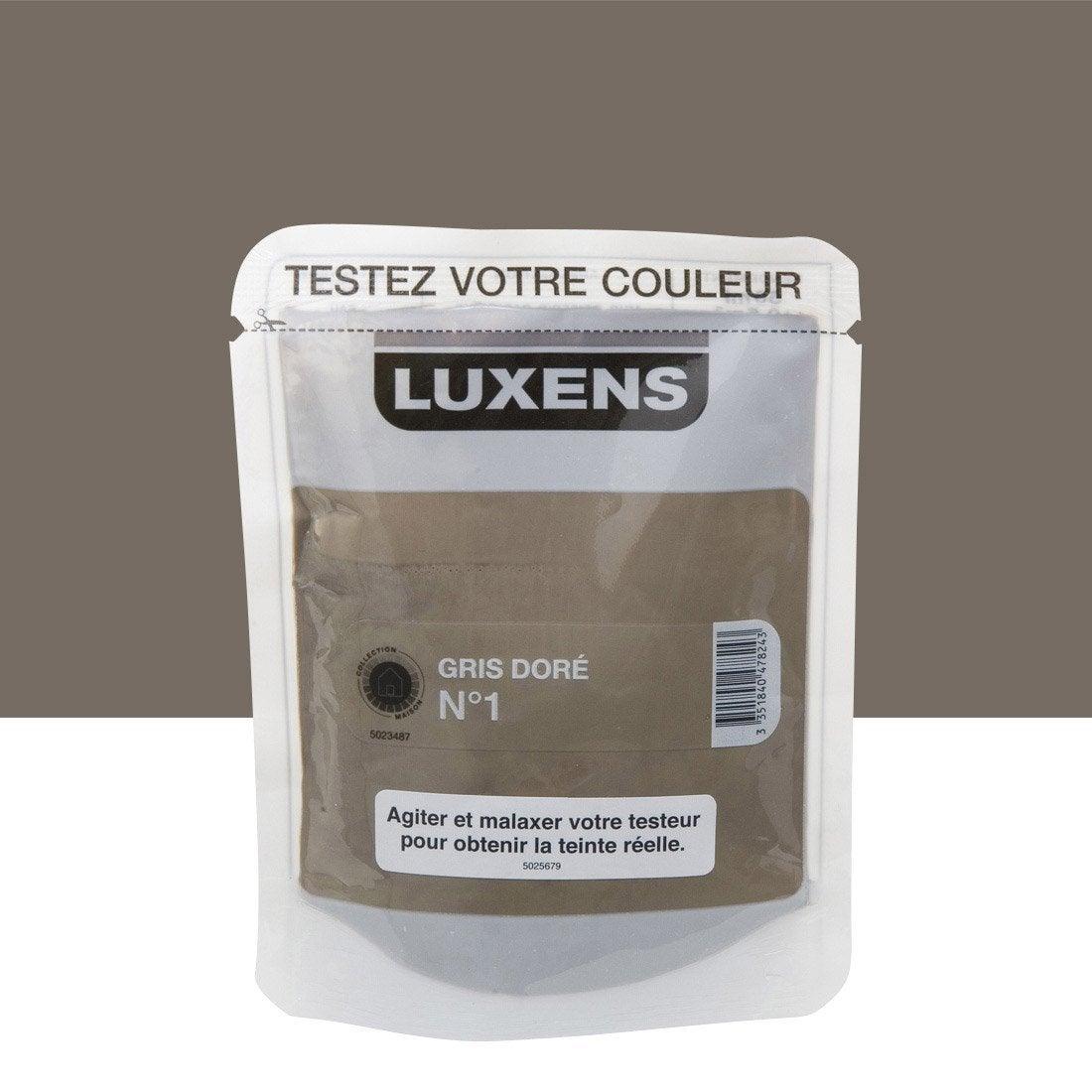 Testeur peinture gris dor 1 luxens couleurs int rieures - Peinture leroy merlin luxens ...