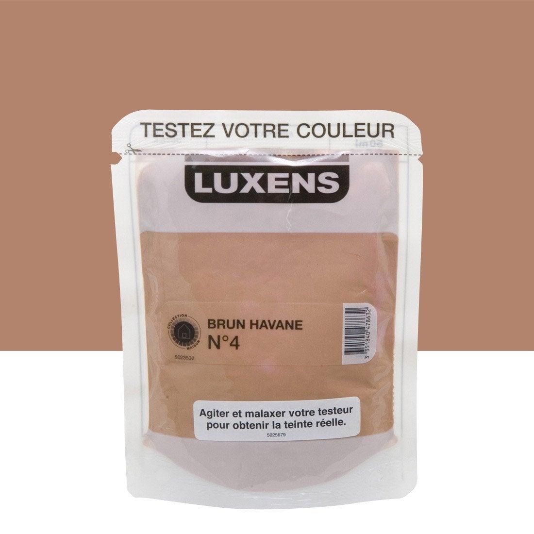 testeur peinture brun havane 4 luxens couleurs int rieures satin l leroy merlin. Black Bedroom Furniture Sets. Home Design Ideas