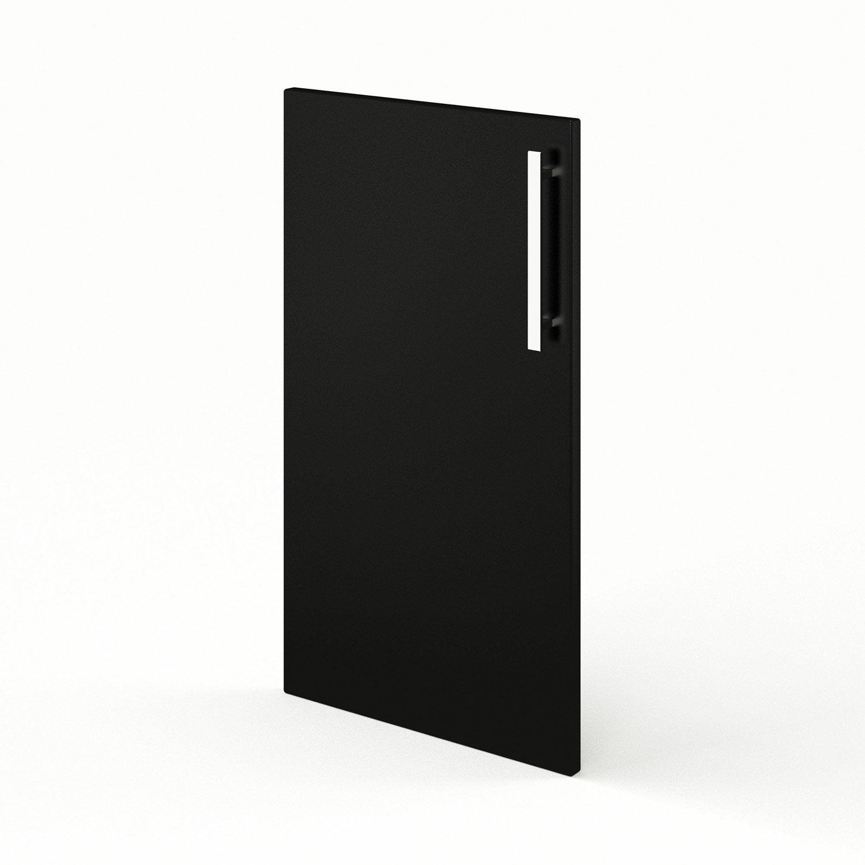 Porte de cuisine noir f40 d lice l40 x h70 cm leroy merlin for Porte de cuisine leroy merlin