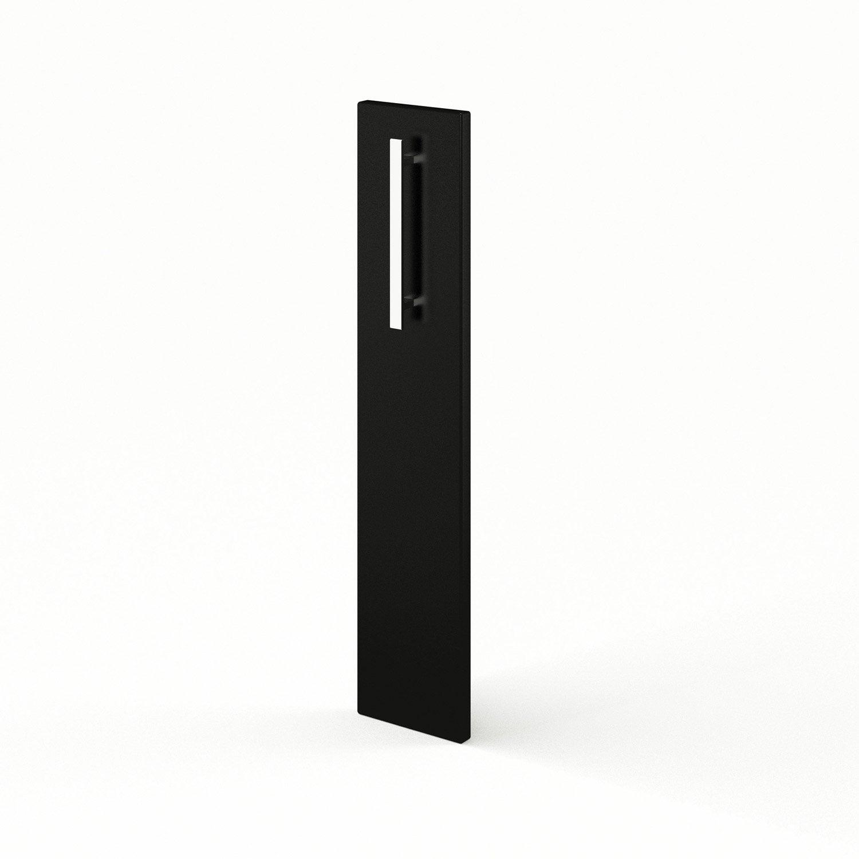 Porte de cuisine noir f15 d lice l15 x h70 cm leroy merlin for Meuble cuisine 15 cm