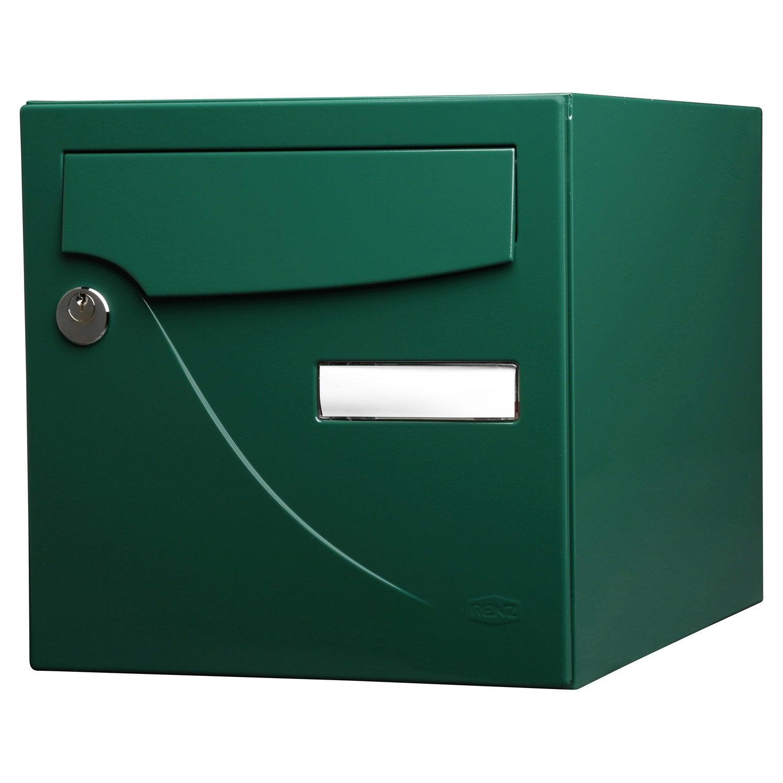 Boite Aux Lettres En Bois Leroy Merlin : Bo?te aux lettres normalis?e La Poste 2 portes RENZ Essentiel en