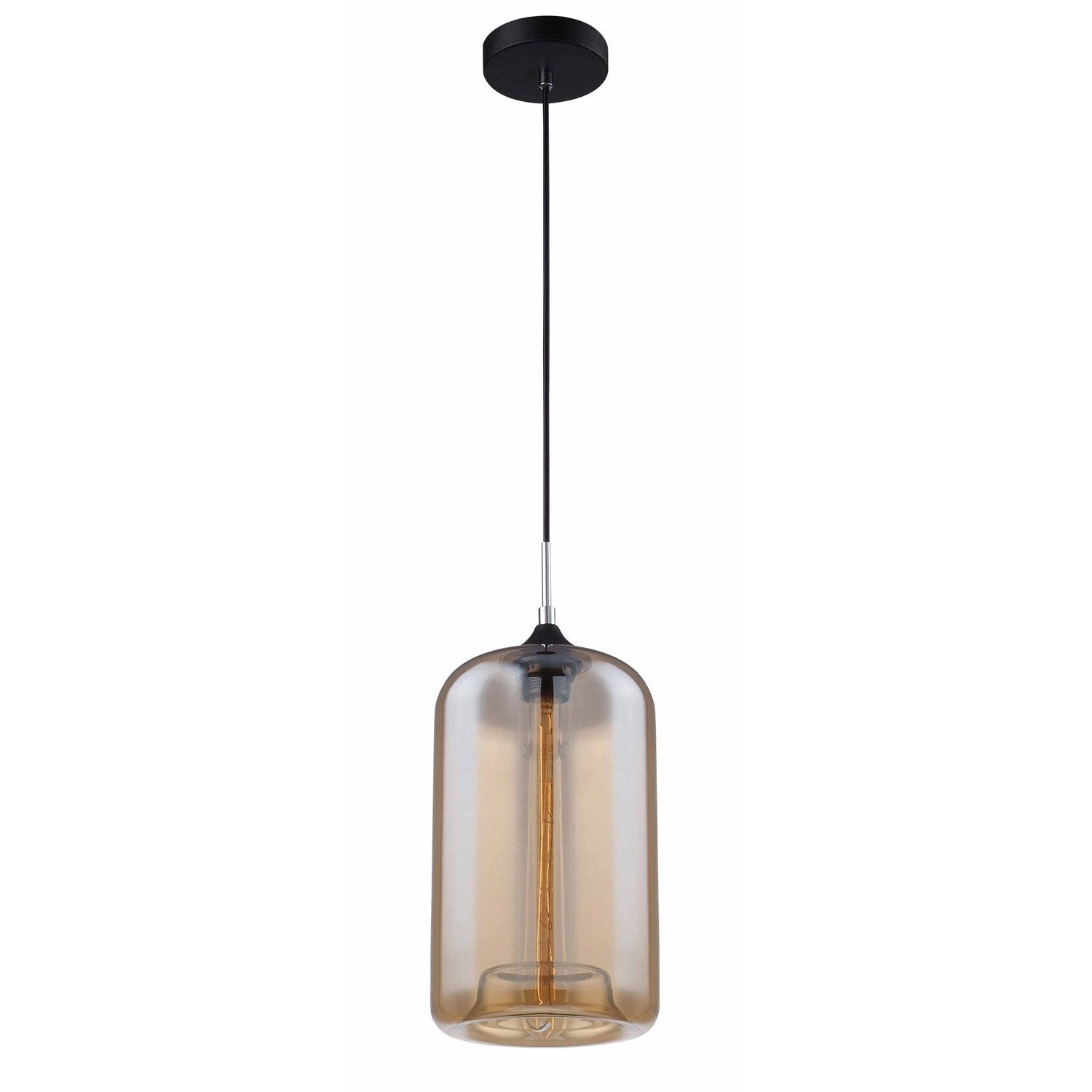 Suspension E27 Style Industriel Soho Verre Fum 1 X 40 W Lussiol Leroy Merlin