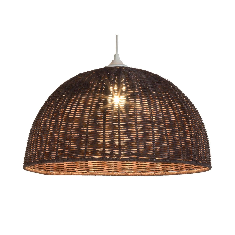suspension e27 jacinthe rotin weng 1 x 60 w lussiol. Black Bedroom Furniture Sets. Home Design Ideas