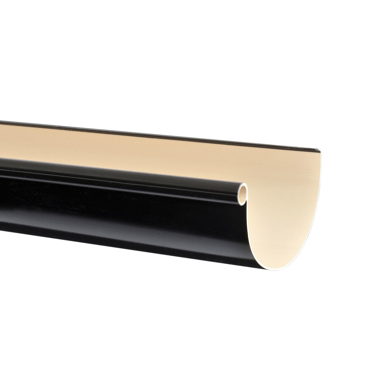 goutti re demi ronde pvc girpi d cm noir l 2 m leroy merlin. Black Bedroom Furniture Sets. Home Design Ideas