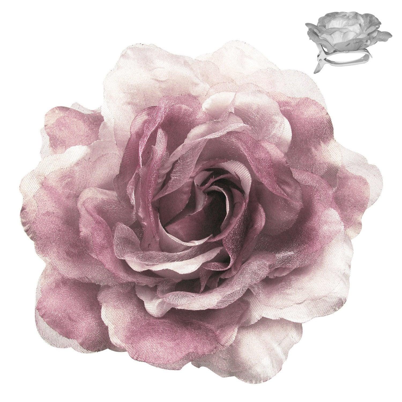 fleur en satin sur pince rose leroy merlin. Black Bedroom Furniture Sets. Home Design Ideas