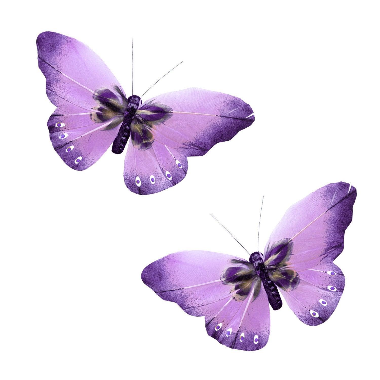 2 papillons aimant s plumette sur magnet violet leroy merlin. Black Bedroom Furniture Sets. Home Design Ideas