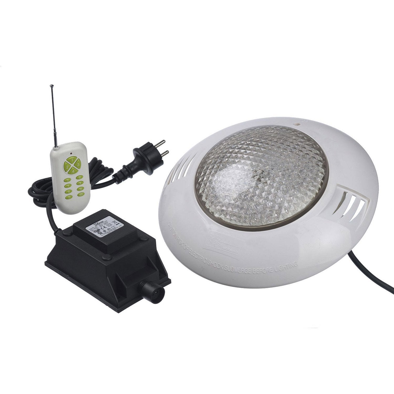 Spot led pour piscine bois multicolore 35 w leroy merlin for Spot piscine desjoyaux