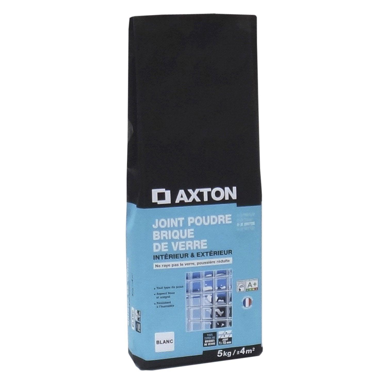 joint poudre brique de verre axton blanc 5 kg leroy merlin