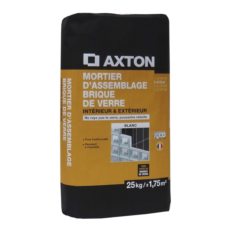 mortier pour brique de verre mur 25 kg blanc leroy merlin. Black Bedroom Furniture Sets. Home Design Ideas