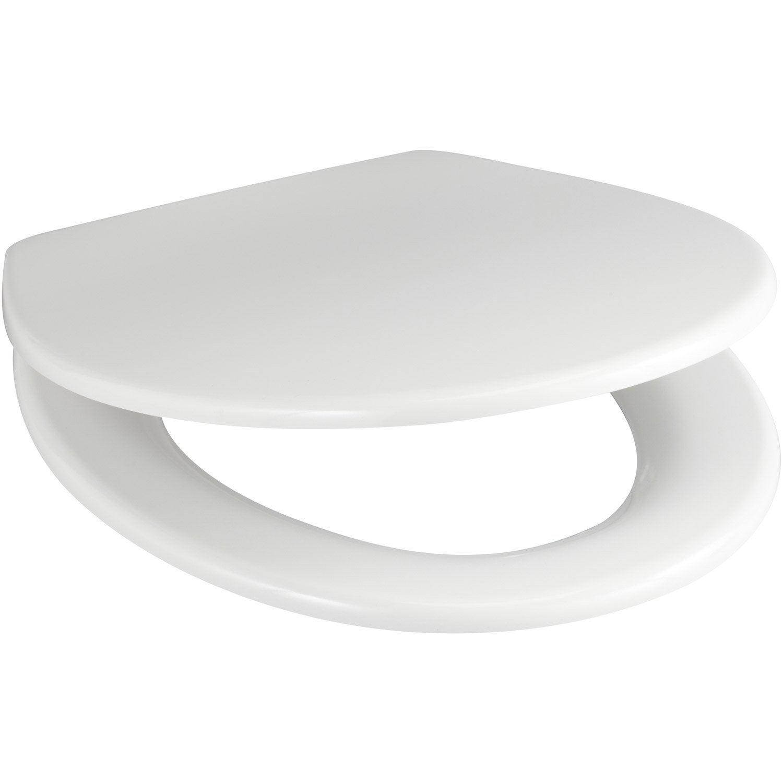 abattant wc sensea plexy blanc leroy merlin. Black Bedroom Furniture Sets. Home Design Ideas