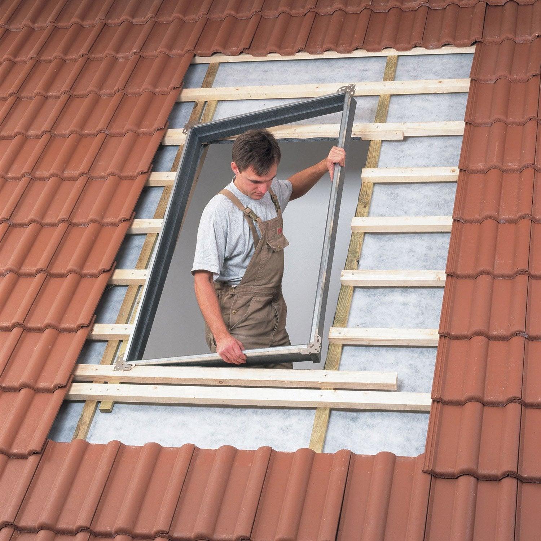 Bloc isolant standard pour fen tre de toit velux bdx ck02 0000 gris leroy - Fenetre fixe leroy merlin ...