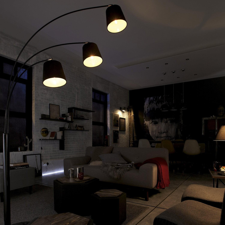 lampadaire savio 150 cm noir 40 w leroy merlin. Black Bedroom Furniture Sets. Home Design Ideas