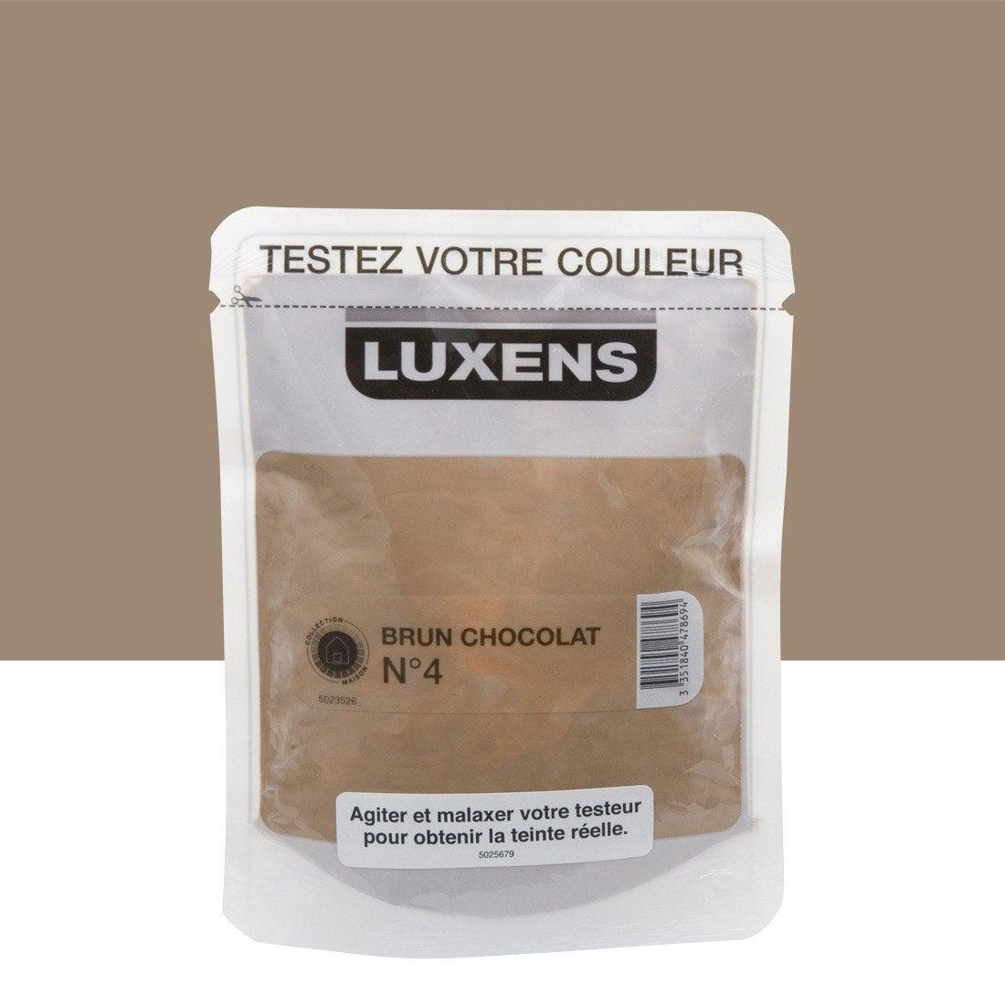 testeur peinture brun chocolat 4 luxens couleurs int rieures satin l leroy merlin. Black Bedroom Furniture Sets. Home Design Ideas