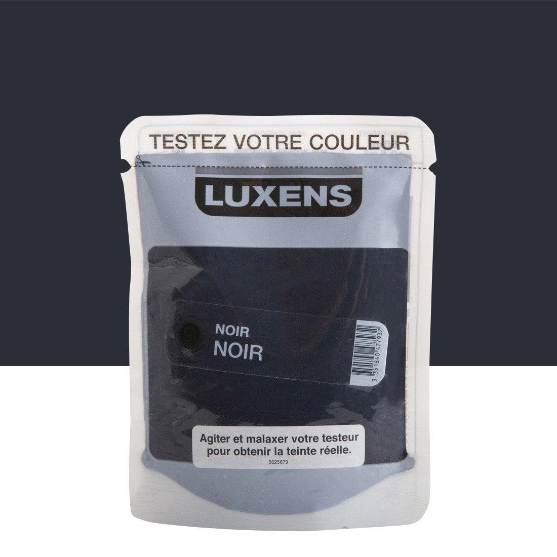 Cuisine Moderne Kenitra : Testeur peinture noir noir 0 LUXENS Couleurs intérieures satin 005 l