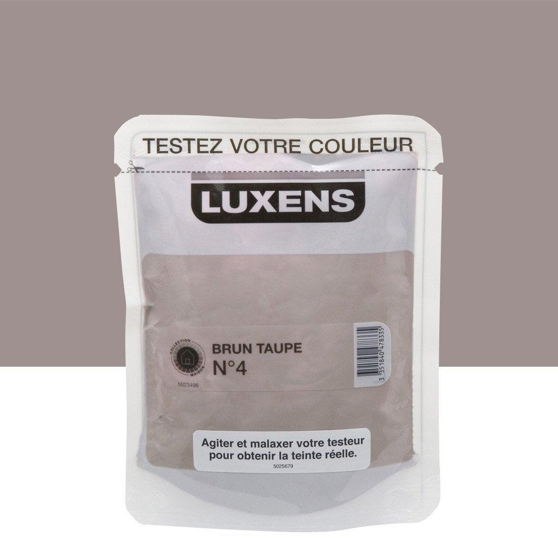Testeur peinture brun taupe 4 luxens couleurs int rieures for Peinture gris taupe clair