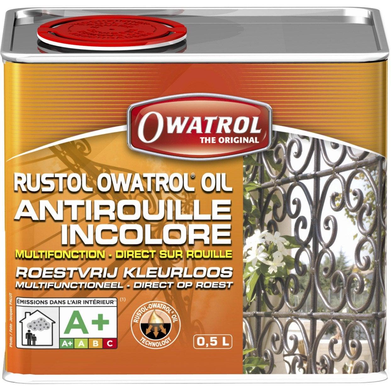 Protection antirouille ext rieur int rieur rustol owatrol incolore 0 5 l - Fer a beton leroy merlin ...