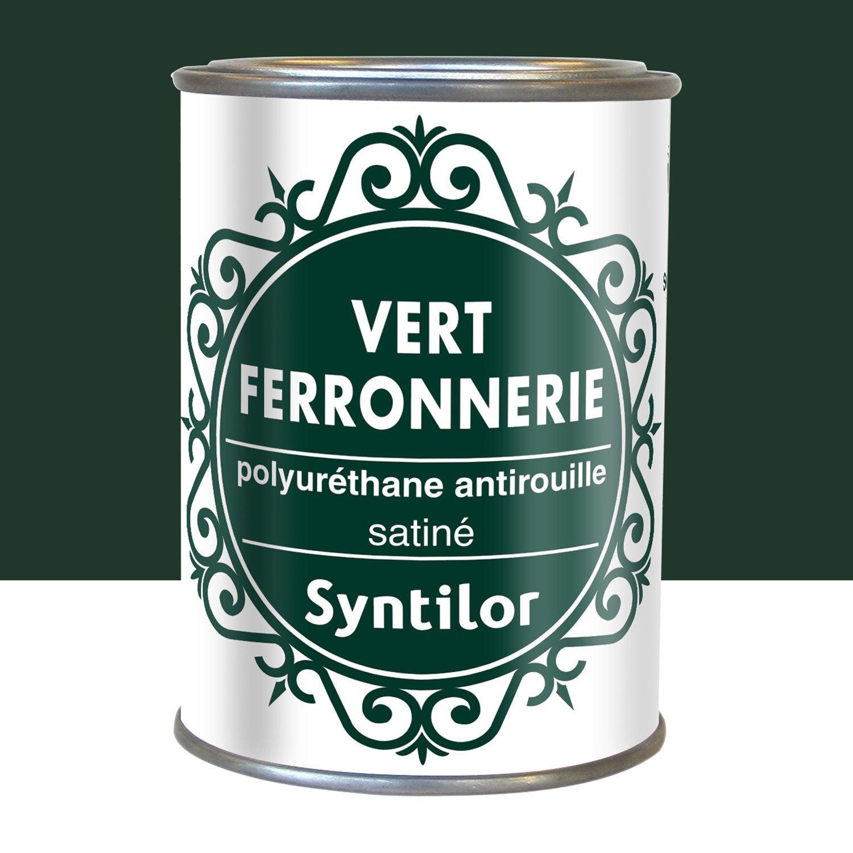 Peinture ferronnerie ext rieur syntilor vert l for Antirouille maison