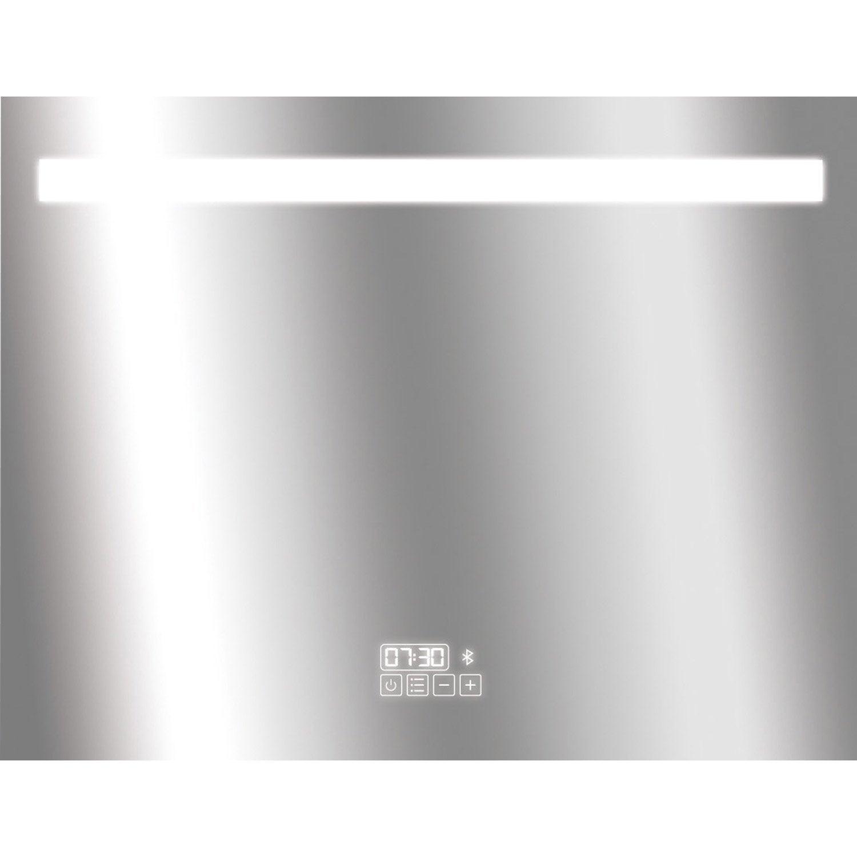 Miroir lumineux avec clairage int gr x cm - Leroy merlin miroir grossissant ...