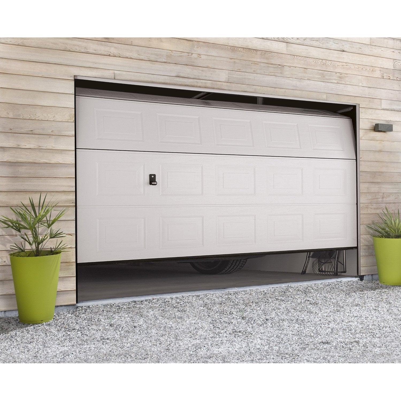 Porte de garage sectionnelle hormann x cm leroy merlin - Porte de garage chez leroy merlin ...
