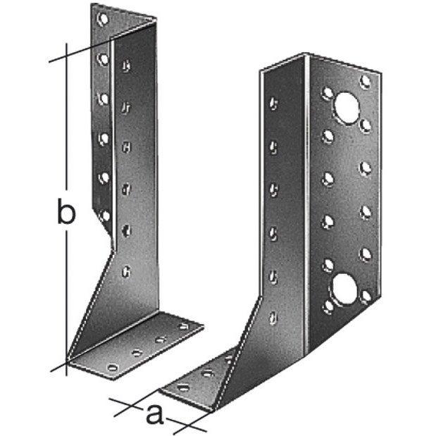 Support de poteau variable galvanis gah alberts 25x140x40 mm leroy merlin - Support poteau leroy merlin ...