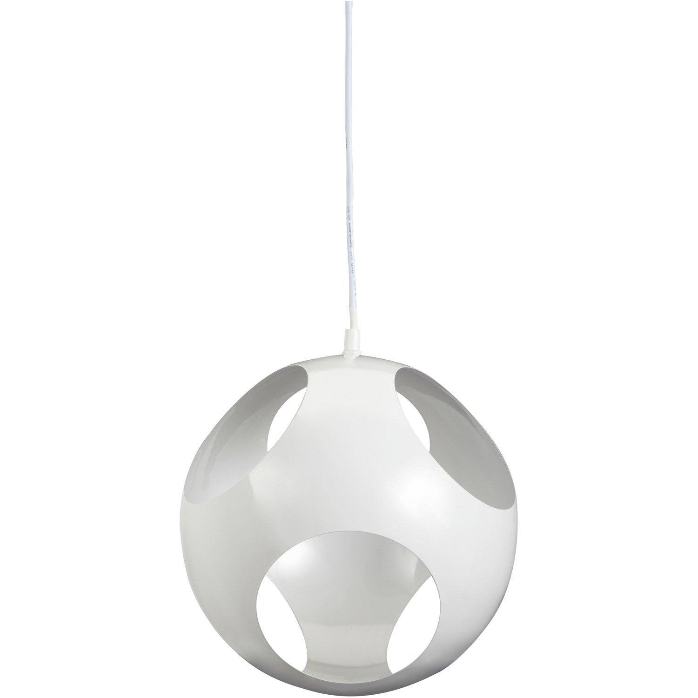 suspension kochi inspire blanc 60 watts diam 25 cm leroy merlin. Black Bedroom Furniture Sets. Home Design Ideas