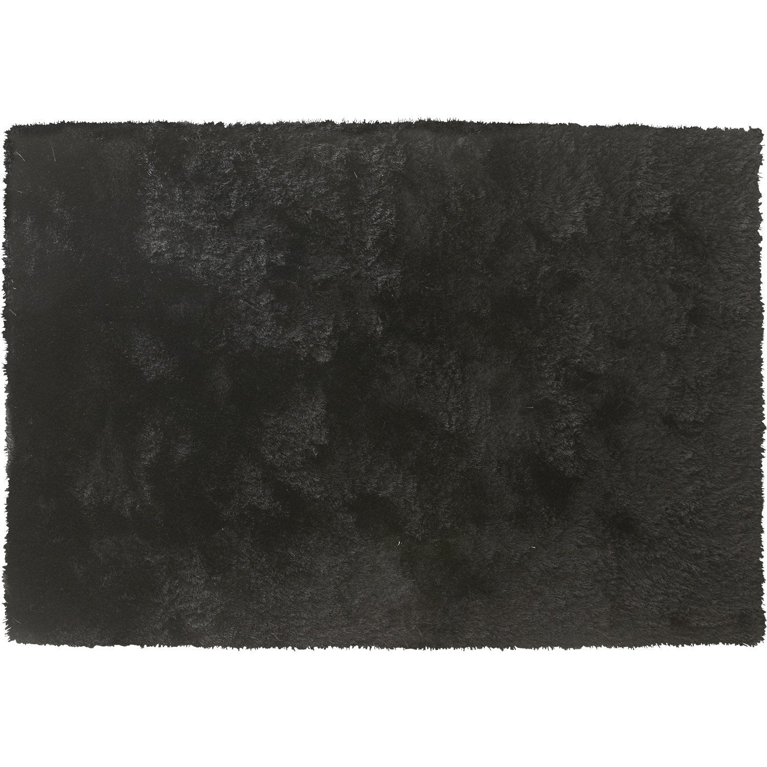 tapis shaggy zelia noir 170x120 cm leroy merlin. Black Bedroom Furniture Sets. Home Design Ideas