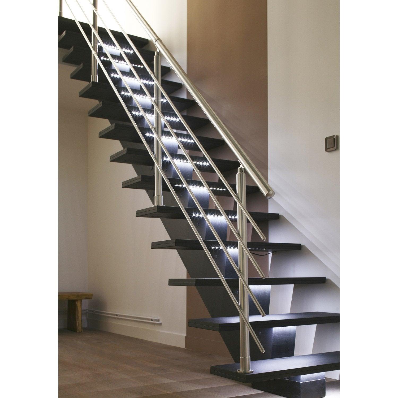 Escalier droit gomera structure m dium mdf marche m dium for Escalier exterieur bois prix