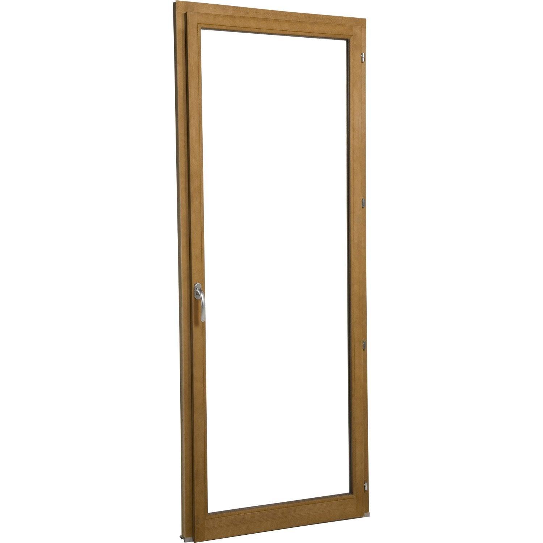 Porte fen tre en bois primo 1 vantail tirant droit h215xl80cm leroy merlin - Porte leroy merlin bois ...