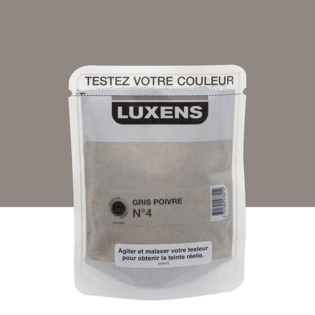 Testeur peinture gris poivre 4 luxens couleurs int rieures - Echeancier de couleur peinture ...