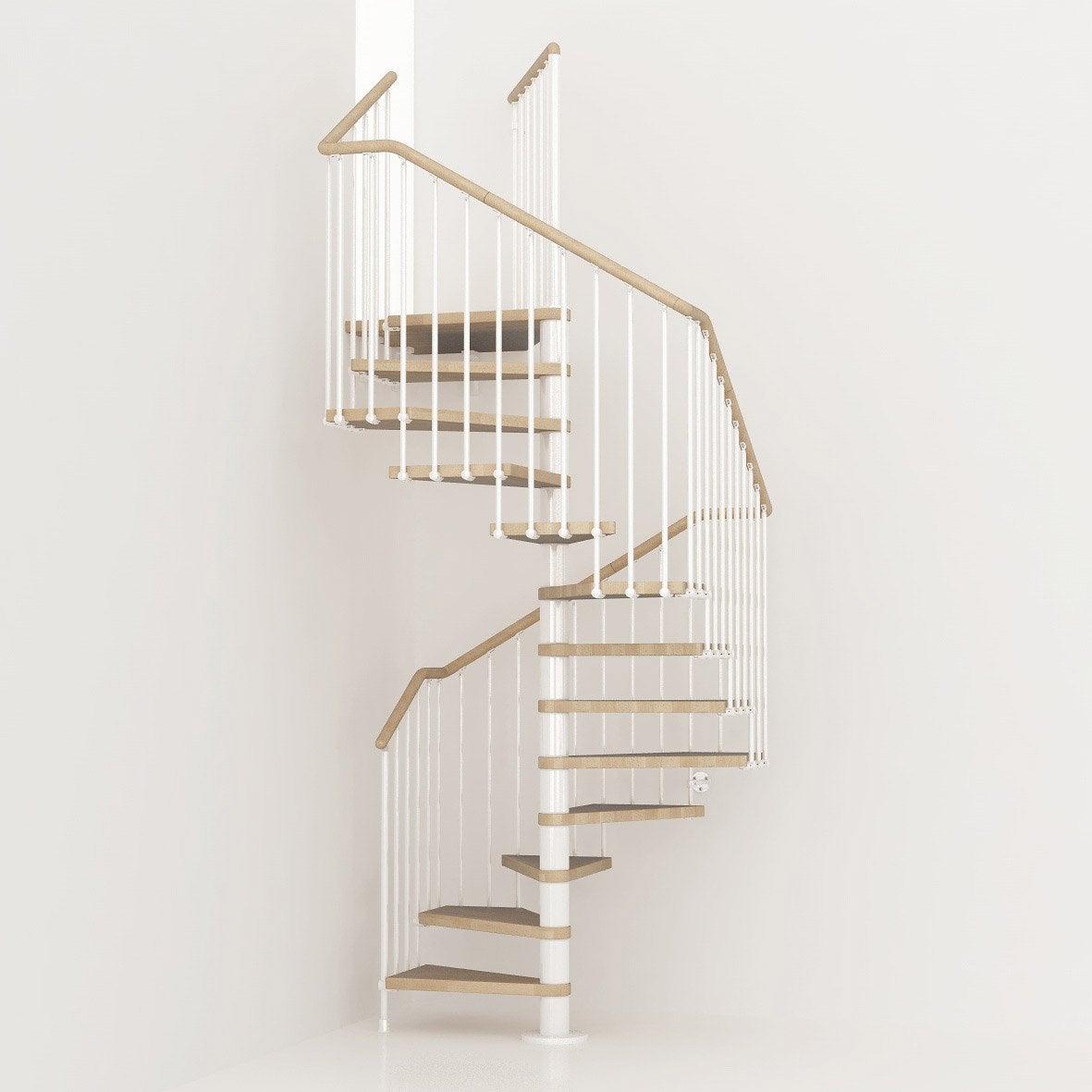 Escalier colima on carr cube structure m tal marche bois - Escalier colimacon leroy merlin ...
