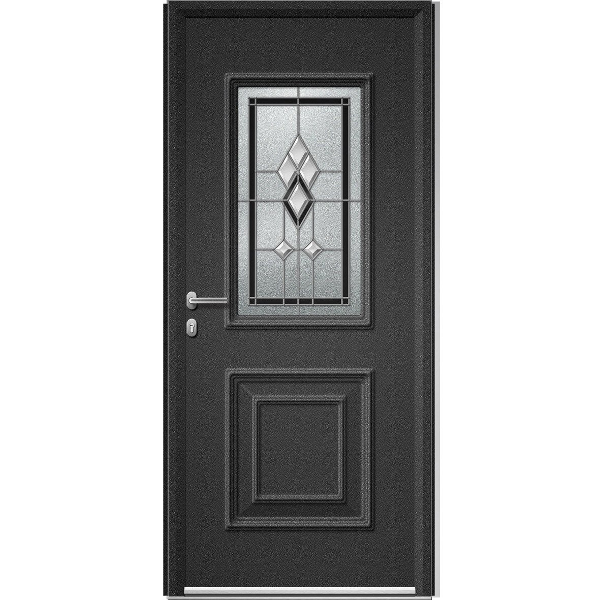 porte d 39 entr e sur mesure en aluminium utah vitrail artens leroy merlin. Black Bedroom Furniture Sets. Home Design Ideas