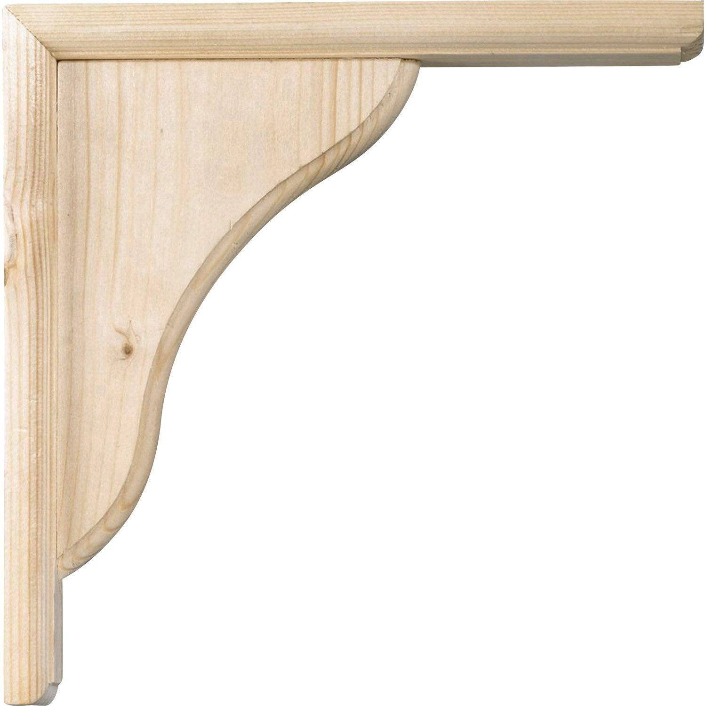 Equerre volute bois brut naturel x cm leroy merlin - Bois compresse leroy merlin ...