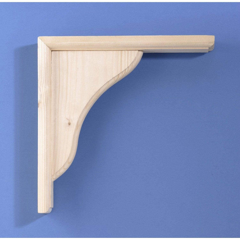 equerre volute bois brut naturel x cm leroy merlin. Black Bedroom Furniture Sets. Home Design Ideas