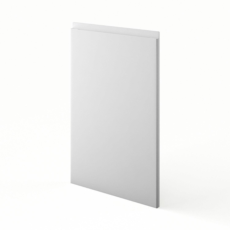 Porte de cuisine blanc graphic x cm leroy merlin for Porte 70 cm de large