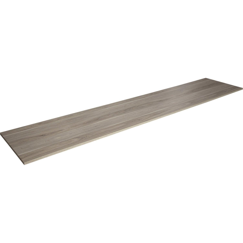 tablette m lamin ch ne dakota aero x 50 cm p 1 8 cm leroy merlin. Black Bedroom Furniture Sets. Home Design Ideas