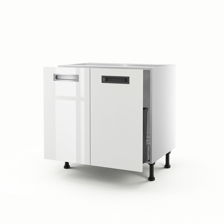 meuble de cuisine sous vier blanc 2 portes play x x cm leroy merlin. Black Bedroom Furniture Sets. Home Design Ideas