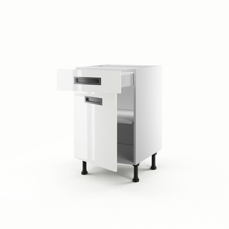 Meuble De Cuisine Bas Blanc 1 Porte 1 Tiroir Play X