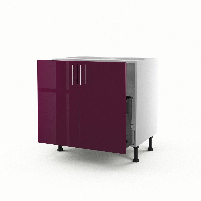 meuble de cuisine sous vier violet 2 portes rio x x cm leroy merlin. Black Bedroom Furniture Sets. Home Design Ideas