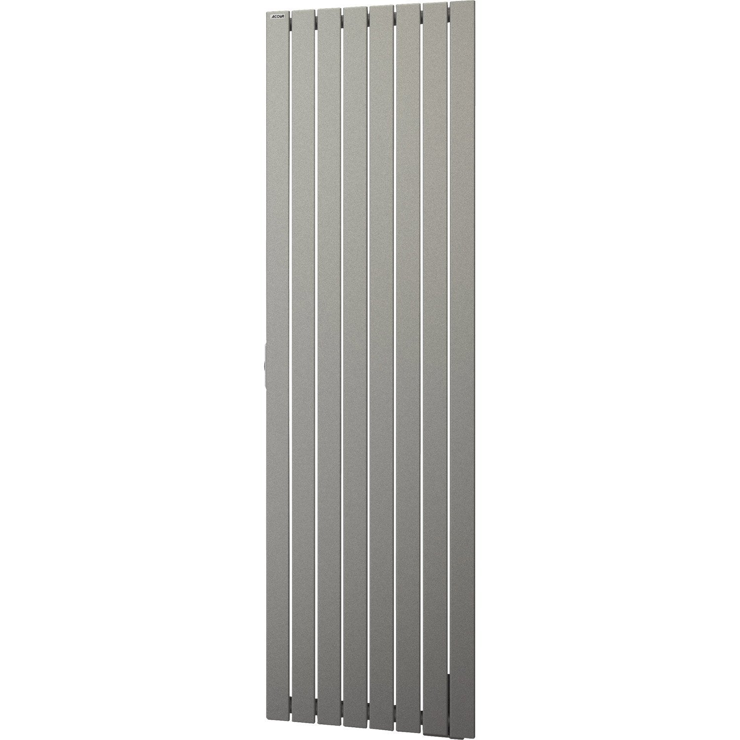 radiateur lectrique inertie fluide acova lina titane vertical 1000 w leroy merlin. Black Bedroom Furniture Sets. Home Design Ideas