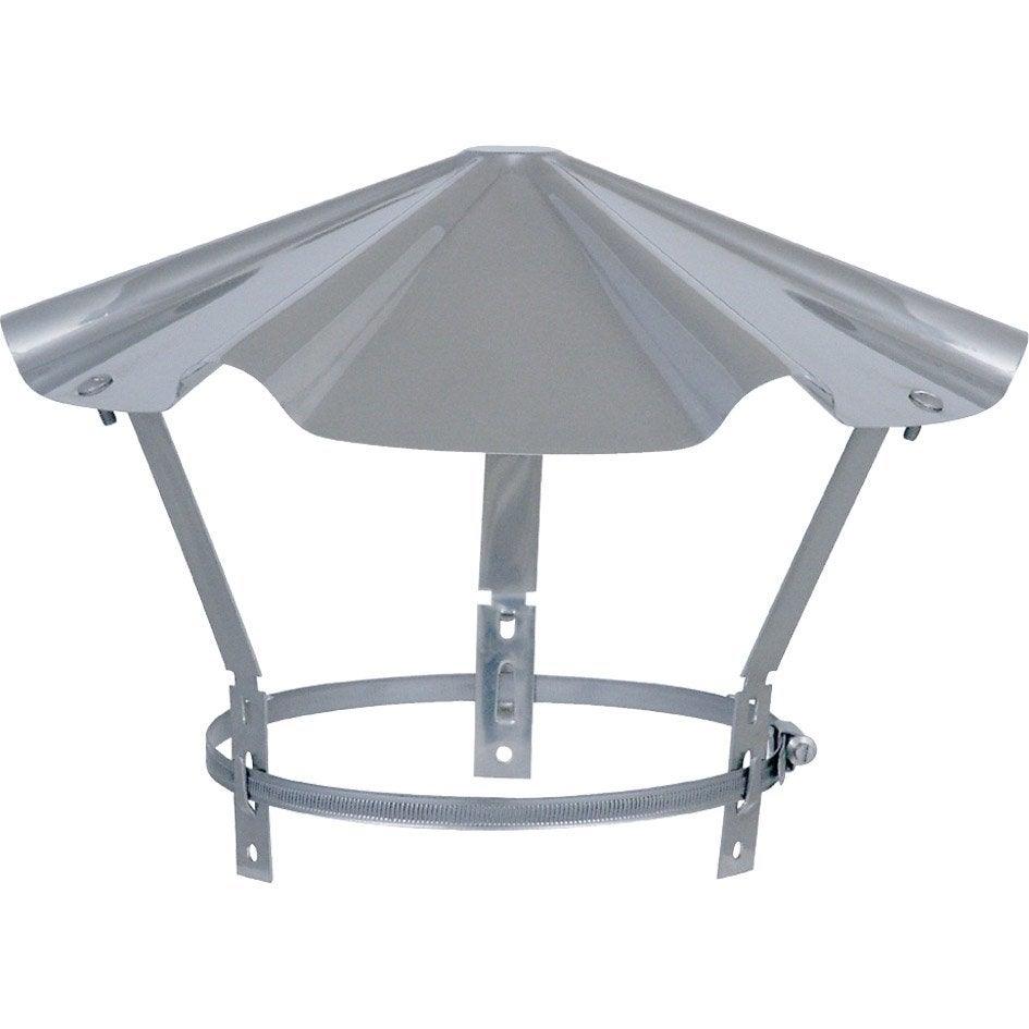 chapeau pare pluie simple isotip joncoux 80 mm leroy merlin. Black Bedroom Furniture Sets. Home Design Ideas