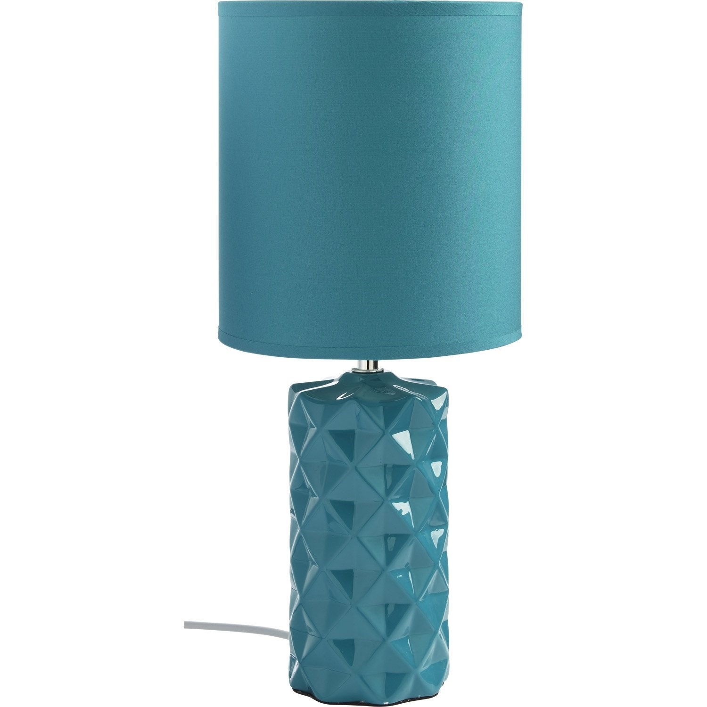 lampe origami mathias coton bleu 40 w leroy merlin. Black Bedroom Furniture Sets. Home Design Ideas