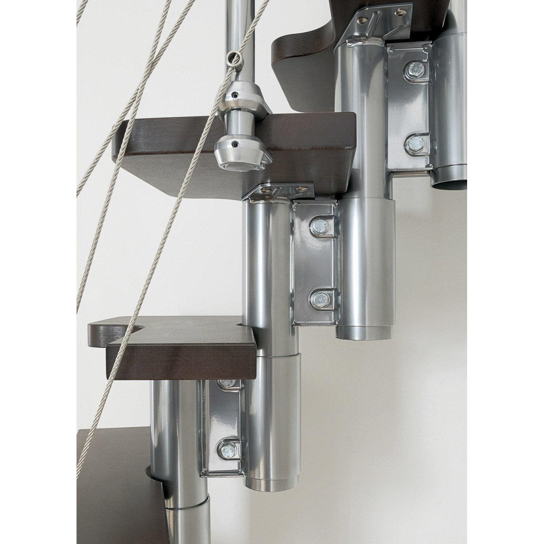 escalier droit mini line marches bois structure m tal chrom leroy merlin. Black Bedroom Furniture Sets. Home Design Ideas