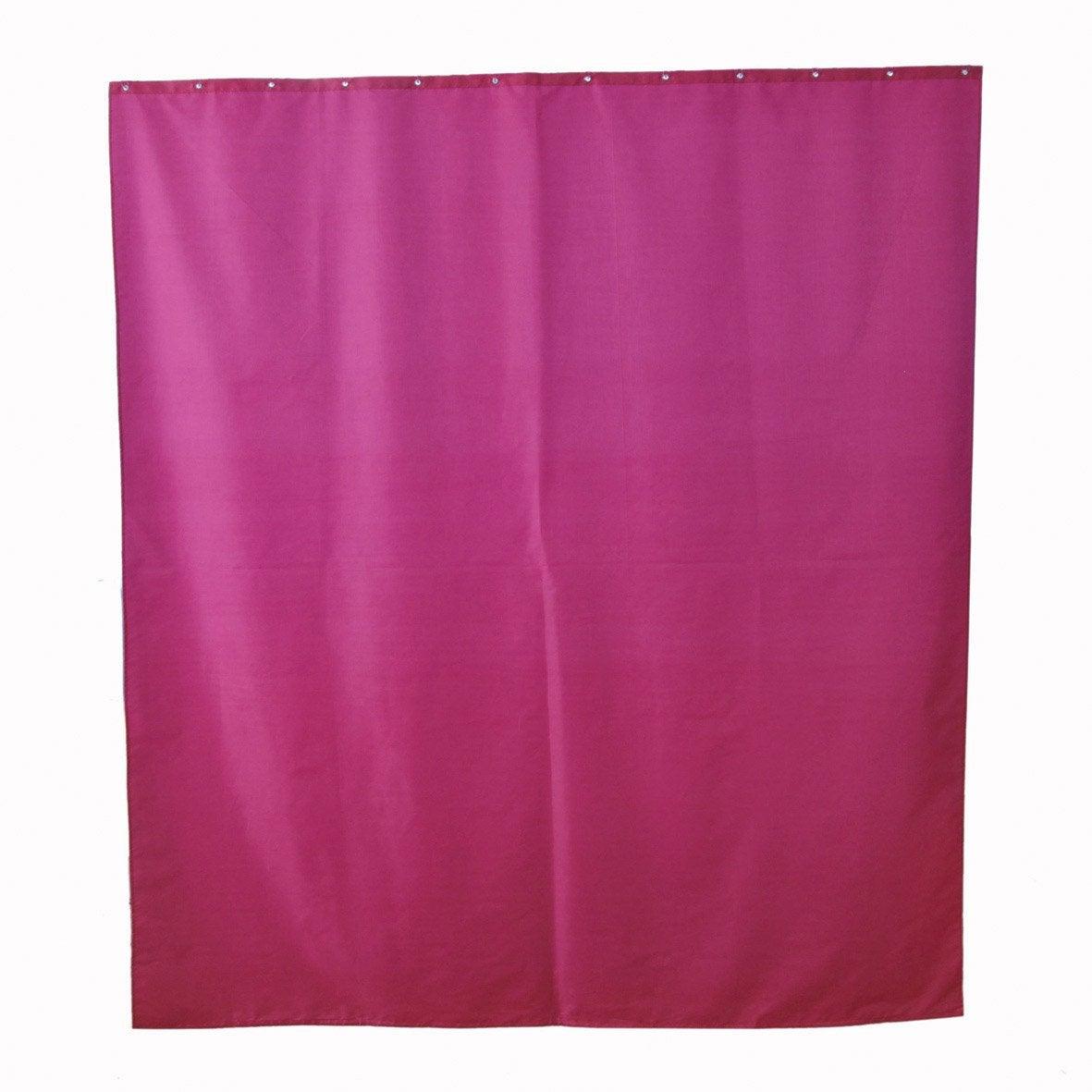 Rideau de douche en textile rose shocking n 3 x h - Rideau de douche leroy merlin ...