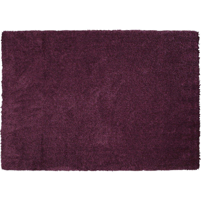 tapis shaggy lizzy violet 230x160 cm leroy merlin. Black Bedroom Furniture Sets. Home Design Ideas