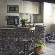 Plaquette de parement pierre naturelle noir Stonepanel