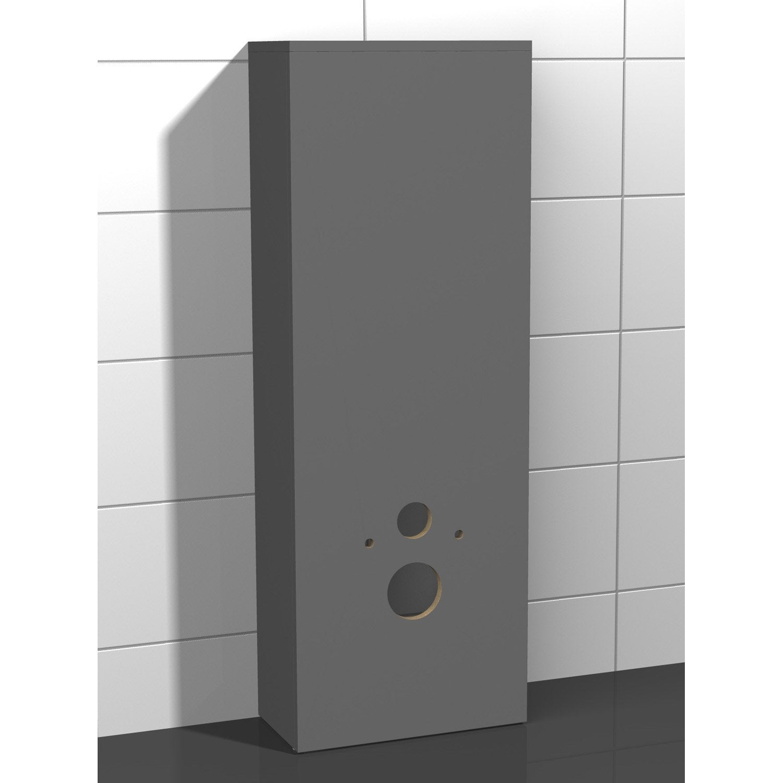 Coffrage pour wc suspendu x x cm gris coin d 39 o leroy merlin - Coffrage wc suspendu ...